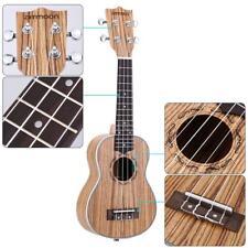 """ammoon Zebrawood 21"""" Acoustic Ukulele 15 Fret 4 Strings Musical Instrument S2O8"""
