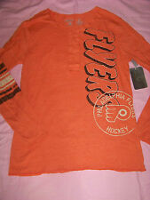 CCM Women's Philadelphia Flyers Fitted Long Sleeve Shirt NWT XL