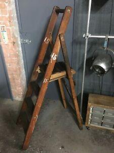 Original Vintage Slingsby Stepladder Shop Display Prop Plant
