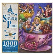 DISNEY PARKS SIGNATURE PUZZLE ALICE IN WONDERLAND 65TH ANNIVERSARY 1000 PCS