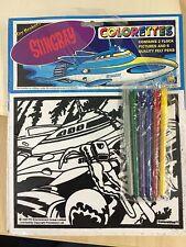 Stingray Colorettes 1992 GERRY ANDERSON 2 Flock pictures & 6 felt pens Sealed #3