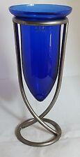 Beautiful Hand Made Cobalt Blue Glass Vase by LSA International