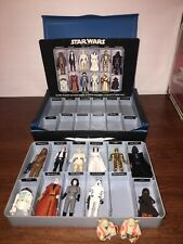 Vintage Star Wars Action Figures Lot In Case With Weapons 1977 Kenner