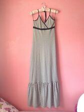 Black And White Striped Maxi Dress Size 8