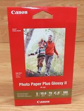 "Canon (PP-301) 4"" x 6"" (inch) 100 Sheets Inkjet Photo Paper Plus Glossy II *NEW*"