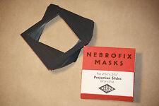 Máscaras De Diapositivas Vintage Nebro alemán fotográfica nebrofix para proyección 2 3/4 X 2 3/4