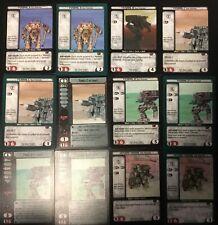 12 BATTLETECH CCG FENRIS - A, B, C, D & Prime - ICE FERRET MECH CARDS of WOLF +!