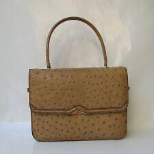 Sac Vintage Porté Main en Cuir d'Autruche Hand Bag
