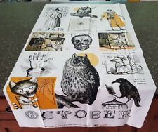 Sew Scary Panel J Wecker Frisch Quilting Treasures 24x44 Halloween Owl Scull