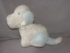 EDEN STUFFED PLUSH PUPPY DOG MUSICAL WIND UP WHITE BLUE WAGGY HOW MUCH IS THAT