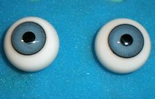 """pair of old glass eyes blue 0.89"""""""
