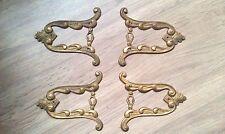 Ornement Lot de 4 ancien entrée serrure  armoire bahut commode bronze