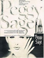 PUBLICITE ADVERTISING  1963   PEGGY SAGE   cosmétiques ongles