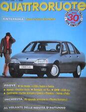 Quattroruote 372 1986 Come saranno le nuove Alfa Romeo.Prove Renault4TL