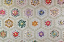 "Antique Grandma's Flower Garden Quilt,  86.5"" x 68"", Dated 1931"