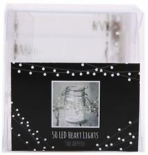 Battery Operated Heart LED Fairy Light String 5 Metres