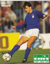 FOOTBALL carte joueur DINO BAGGIO  équipe ITALIE Format 19 / 15 cm