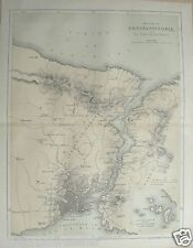 C1860 guerre de crimée imprimer carte constantinople thrace bosphore encart princes isle
