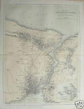 c1860 Crimean War Print Map Constantinople Thracian Bosphorus inset Princes Isle