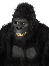 Goin Ape Mask Ani-Motion Latex Gorilla Black Monkey Halloween