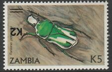 Zambia (1675) - 1991 Beetle with SURCHARGE INVERTED  unmounted mint