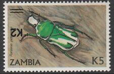 Zambia (1675) - 1991 Beetle avec surcharge inversé Non montés excellent état