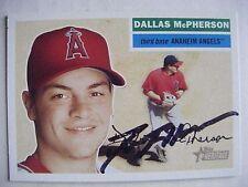 DALLAS McPHERSON signed ANGELS MARLINS 2005 Heritage baseball card CITADEL AUTO