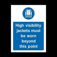 High Visibility Jackets Plastic Sign OR Sticker - A6 A5 A4 (MPC7)