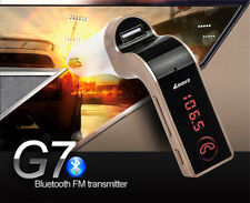 Car Wireless Bluetooth MP3 Player FM Transmitter Adapter USB Charger w/ Aux Set