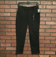 Women's Kut From The Kloth NWT Stitch Fix Black Cotton Stretch Capri Pockets