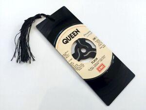 """Queen, Flash, 7""""  Vinyl Record Bookmark gift"""