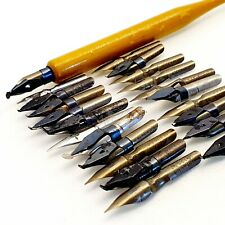 30 nibs LOT LSERLOHN SCHULER calligraphy dip ink pen Vintage 1940's antique 1