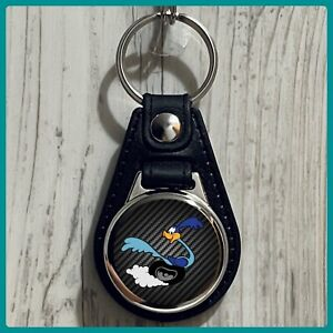 Single Sided Leather Keychain Plymouth Road Runner Superbird Classic Car