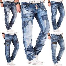 Kosmo Lupo Jeans Herren Hose Japan Style Clubwear Vintage Verwaschen Fit Used