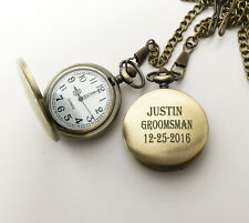 Personalized Engraved Custom Pocket watch for men-Retirement gift