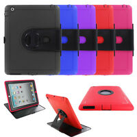 Heavy Duty Armor Hybrid with Detachable Stand Cover Case For Apple Ipad 2/3/4