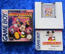 Mickey Mouse V 5 Zauberstäbe, Nintendo GameBoy GB Spiel, OVP Anleitung