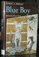 SIGNED, BLUE BOY, by EDWIN A PEEPLES, ILLUSTRATED by EDWARD SHENTON, 1st, HCDJ