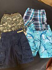 4 Pair Of Boys Size 7 Shorts & Swim Trunks Variety Of Brands