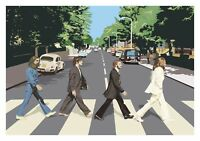The Beatles - Abbey Road Iconic Music History Wall Art Framed Canvas Pictures