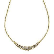 ZEEme Jewelry Halskette Collier 925 Sterling Silber vergoldet 45cm Weißtopas