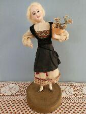 Poupée ancienne: rare poupée-figurine Jules Verlingue sur socle  30 cm.