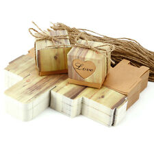 100 X Wedding Party Heart Rustic Kraft Candy Boxes Vintage Gift Favor Chocolate