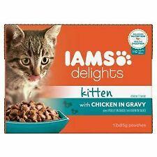 Iams Delights Kitten & Junior Cat Chicken In Gravy (12x85g) - 727363