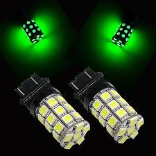 GREEN 3157 3757 4114 T25 Car DRL Running 30 5050 SMD LED Light Lamp Bulb Pair