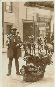 RP 1906 LONDON LIFE - Flower Hawker, shop