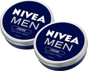 2 x Nivea Men Creme for Face, Body and Hands 150mL