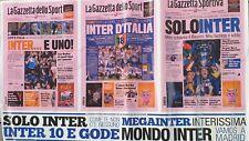 MEGA POSTER TRIPLETE INTER - Maggio 2010 - La Gazzetta Dello Sport - 100 x 60