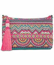 Steve Madden Cayman Pink/Green Multi-Color Beaded Chain Strap Crossbody Handbag