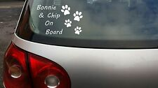 Personalised Dogs On Board Your Pet Name Vinyl Window Car Sticker Decal